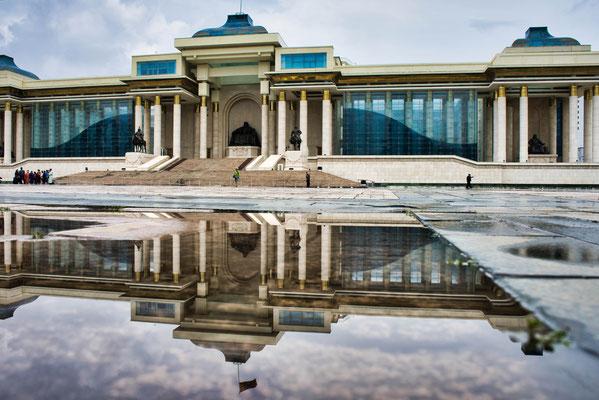 Main square in Ulaanbaatar Mongolië