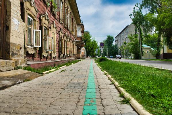 Volg de groene lijn in Irkoetsk