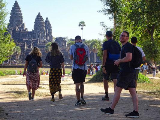 Gezellige dag in het tempelcomplex van Angkor bij Siem Reap