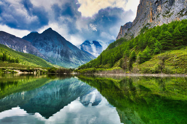 Yading nature reserve in China.