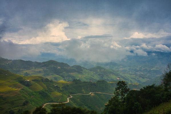 Uitzicht tijdens de Ha Giang loop in Vietnam