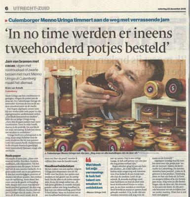 Interview met Menno Uringa van Sjamaan in het Algemeen Dagblad