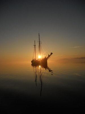 Die Fortuna im Sonnenuntergang