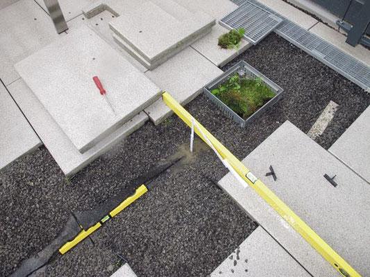 Untersuchung eines Anschlusses einer Terrasse an eine Terrassentür