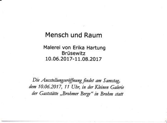 Erika Hartung - Einladung