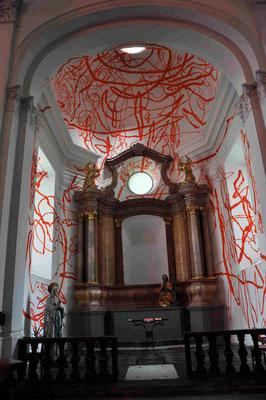 Oeuvre d'art dans une église de Graz