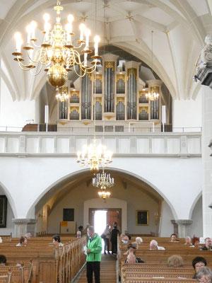 Johanniskirche Plauen vor dem Orgelkonzert