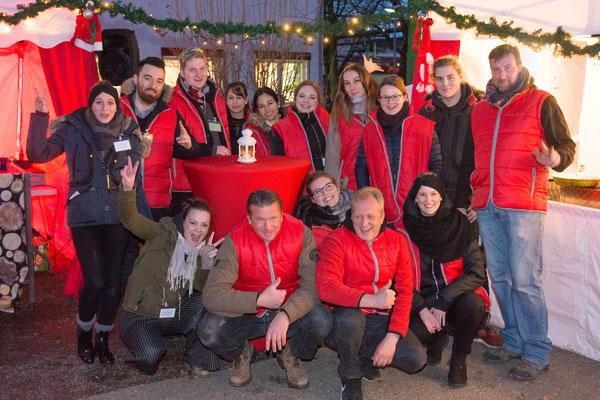 Das Team für den mobilen Weihnachtsmarkt