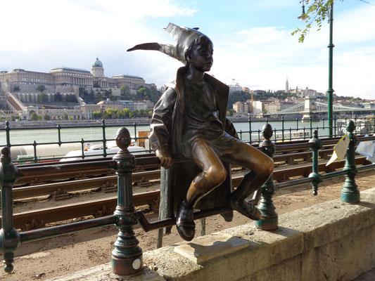 Little Princess Statue, Skulptur von László Marton, Budapest, Ungarn