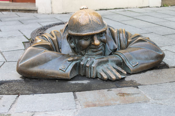 Der Gaffer, Bratislava, Hauptstadt der Slowakei