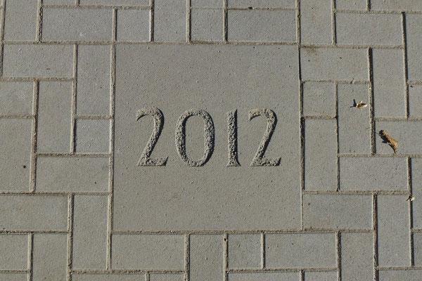 27.10.2012: In Stein gemeißelt