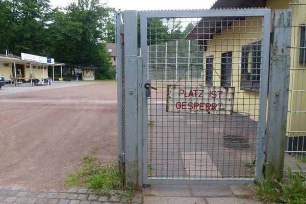 06.07.2012: Der Platz ist gesperrt.