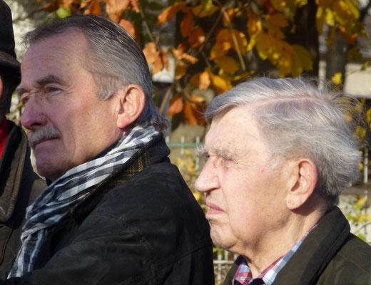 Namentlich erwähnt und gewürdigt: TuS Geschäftsführer Norbert Müller und Karl Mellen, Deutscher DJK-Meister mit dem TuS im Jahr 1953