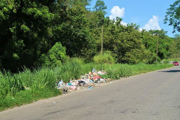 Den Abfall haben die Hondurianer noch nicht im Griff