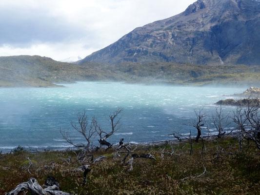 Der Wind fegt über den See