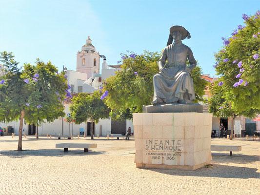Das Denkmal für Heinrich dem Seefahrer