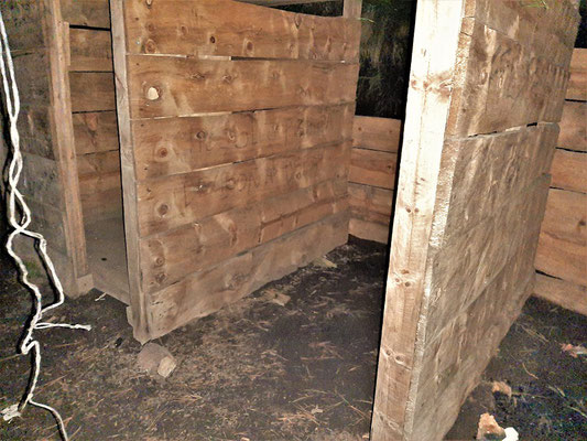 Eine einfache Schutzhütte auf 3000müM