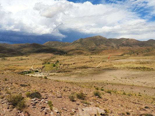 Ausblick vom Cerro - im Hintergrund unser Camper