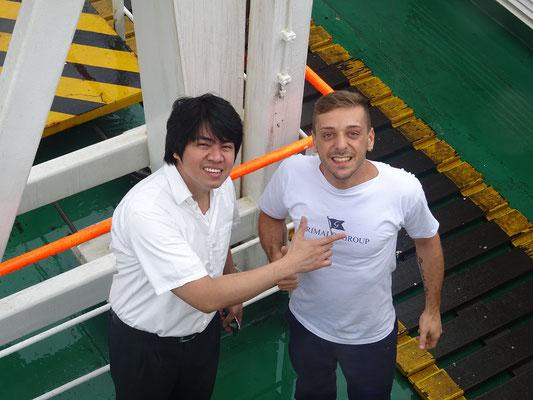 Unsere Stewards Sonny und Nello