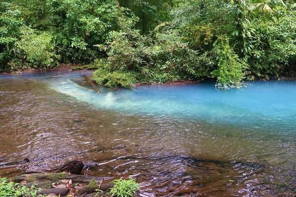 Los Tenideros/Färbe-Stelle des Río Celeste
