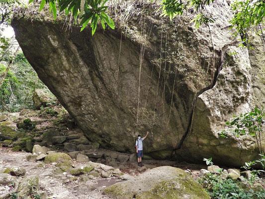La Piedra Pintada mit Petroglyphen