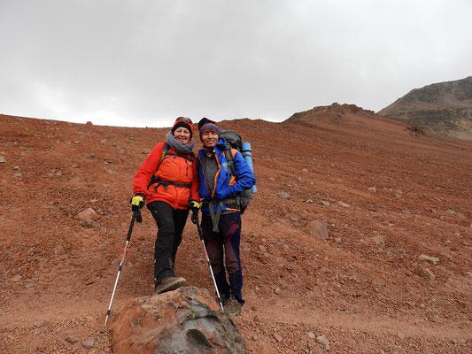 .... mit unserem Bergführer Dario