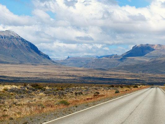 Auf der Fahrt zum Perito Moreno Gletscher