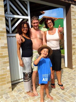 Tina, Harald, Mathilde und Luiz