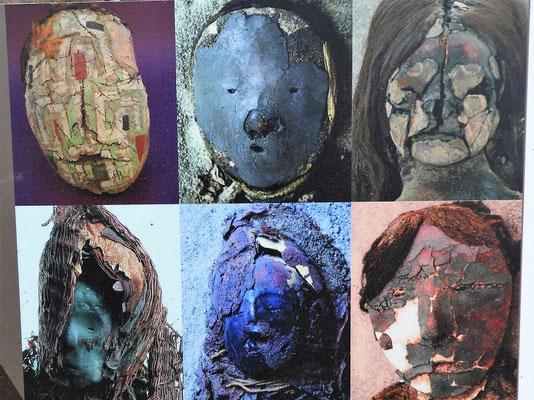 Die Chinchorro Mumien tragen alle eine bemalte Tonmaske (Bild Museum)