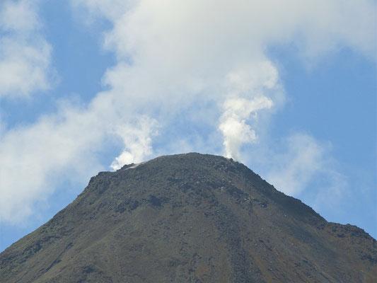 Zurzeit raucht der Vulkan Arenal nur noch an einigen Stellen