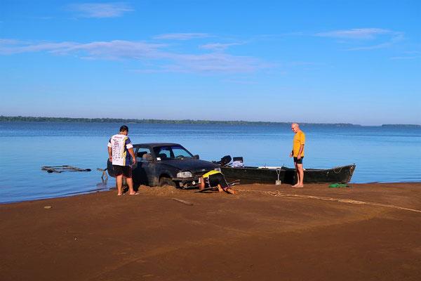 Auch ein erfahrener Fischer kann mal stecken bleiben ;o))