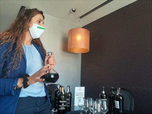 Degustation beim Portwein-Hersteller Kopke