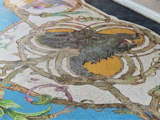 Mosaik im Esszimmer