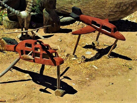 Afrikanisches Handwerk auf dem Markt in Okahandja