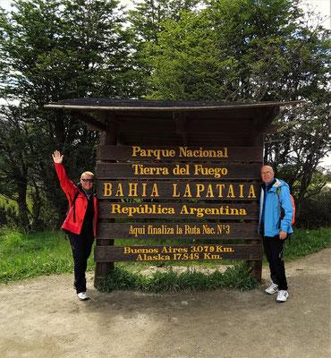 Am Ende der Ruta 3 angekommen - nach 4840 km durch Argentinien und Chile