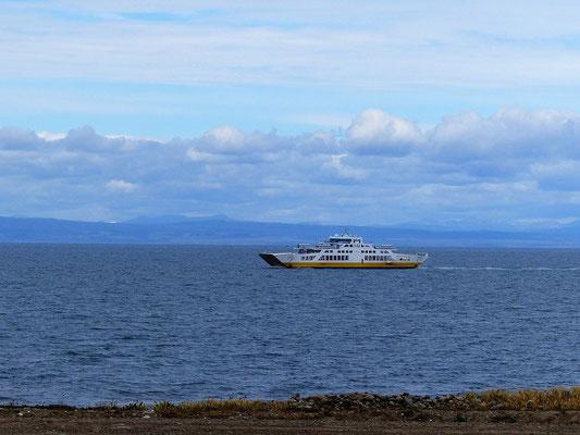Mit der Fähre geht es nach Punta Arenas