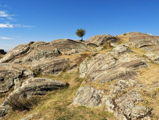 Die abgeschliffenen Felsen....