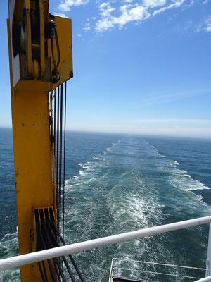 Die Atlantiküberquerung beginnt