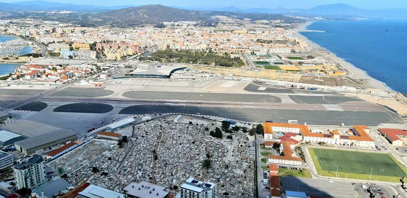 Gibraltar - Flughafen/Grenze - Spanien