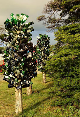 Bäume aus Flaschen
