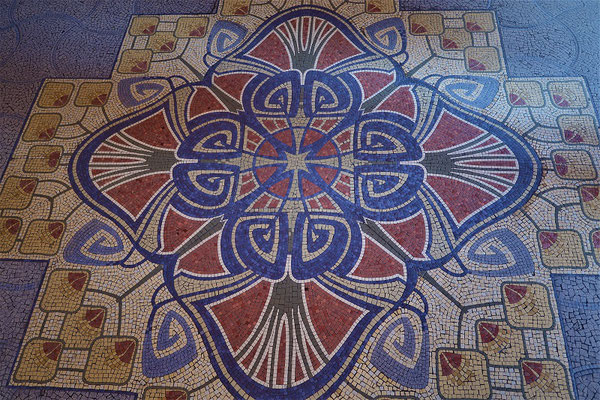Mosaik im Eingang