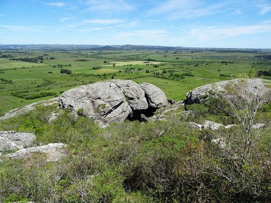 Blick vom Cerro auf das Gebiet der Lavalleja