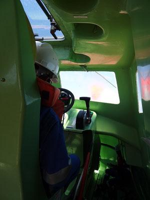 Der Kapitän des Rettungsbootes
