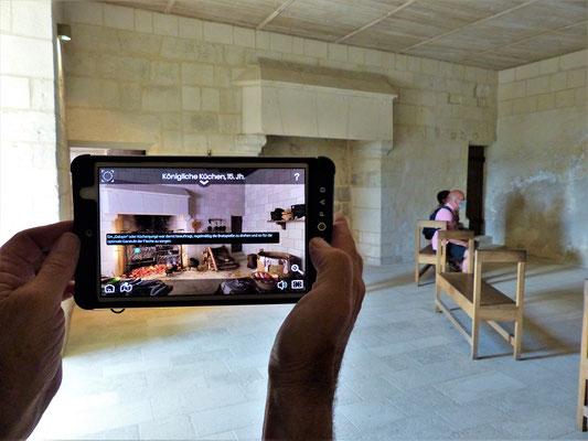Die Führung per iPad gewährt uns einen Einblick ins Leben von damals