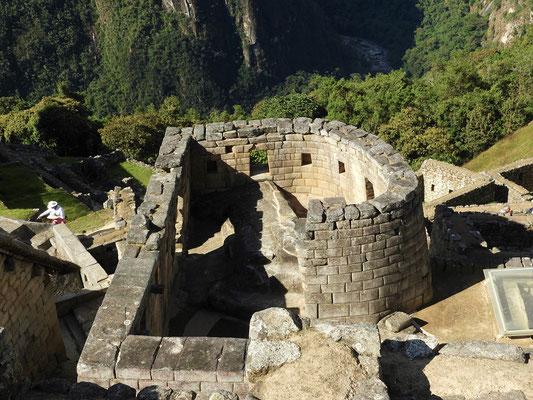 Der Sonnentempel - das einzige runde Gebäude