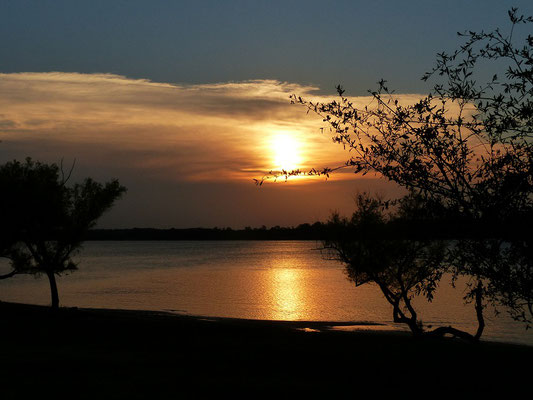Sonnenuntergang am Río Uruguay