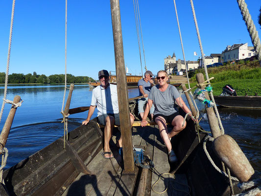 Bootsfahrt mit unserem Nachbarn...