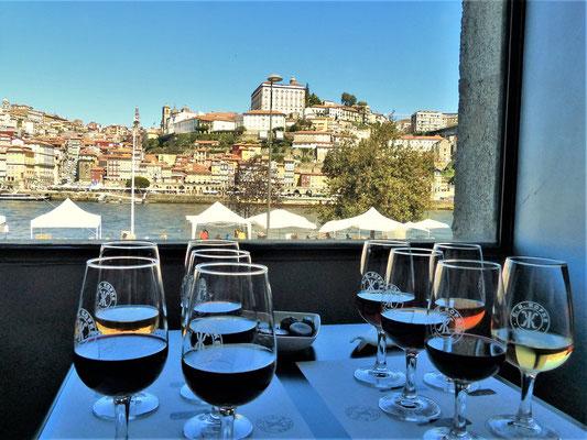 ....die exzellente Degustation mit dem super Ausblick auf Porto....