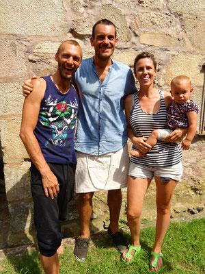 Felix, Mathias, Serena und Cielo