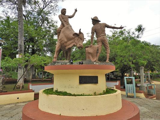 Rodeo-Denkmal auf der Plaza